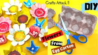 DIY Egg Carton Flowers  Best Out Of Waste Crafts   Egg Carton Crafts   Recycle Crafts