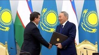 Елімізге алғаш рет Өзбекстанның президенті іс-сапармен келді (24.03.17)