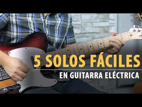 Los 5 Solos Más FÁCILES Para Guitarra Eléctrica - Tutorial + TAB