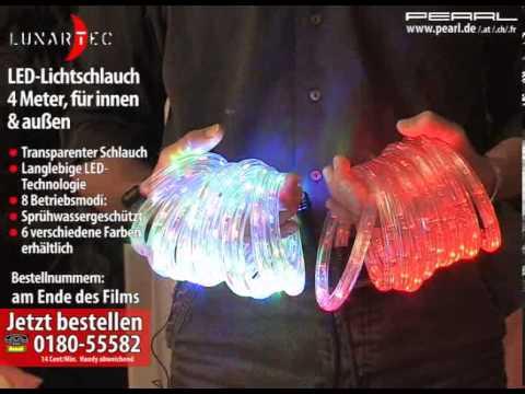 Lunartec LED-Lichtschlauch grün, 4 Meter, für innen & außen