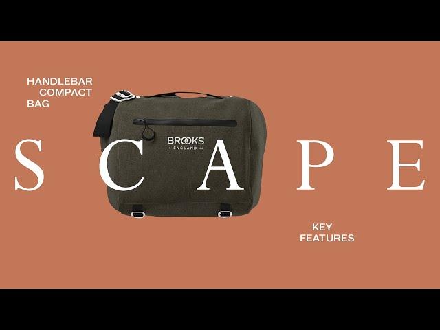 Видео Сумка BROOKS Scape Handlebar Compact bag Mud Green
