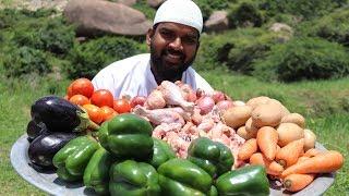 Arabian dish chicken maqlooba traditional recipe || Nawabs kitchen