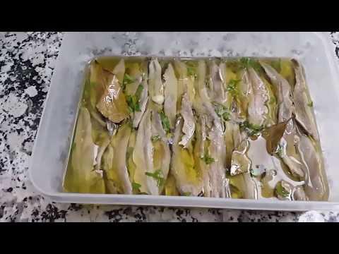 الشطون المخلل أو المرقد وكيفية الاحتفاظ به مدة طويلة les anchois fait maison