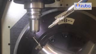 IRUBA Mat INCONEL Schaufel fräsen mit Vollkeramik Werkzeug
