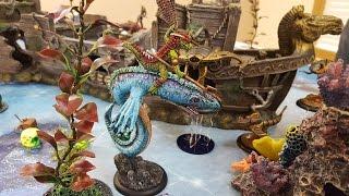 DeepWars Battle Report #3 - Scaly Horde vs. Ancients of Atalán 800 points