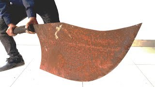 Restoration rusty handmade giant knife  | Restore big knife old rusty