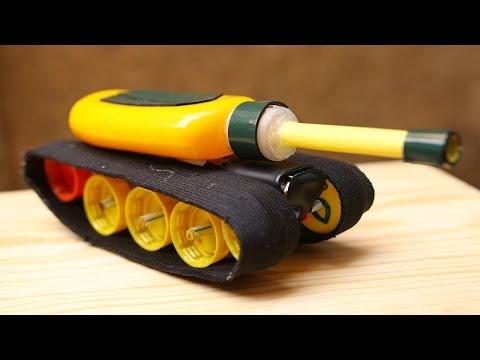Hướng dẫn tự làm xe tăng đồ chơi mini vượt địa hình đơn giản