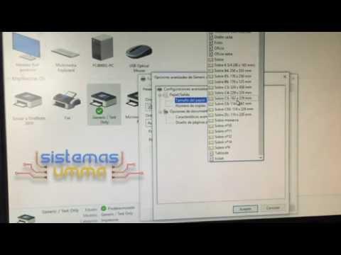 Configurar tamaño de hoja para impresora de tickets en Windows 10