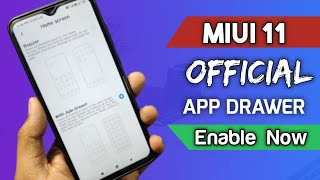 MIUI 11 Official App Drawer Update || How to enable app drawer in Miui 11 | Redmi note 8 pro