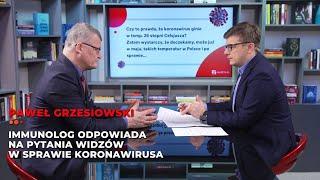 Dr Paweł Grzesiowski odpowiada na pytania widzów w sprawie koronawirusa