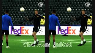 Cristiano Ronaldo trains with Man United squad in Bern; see the training video