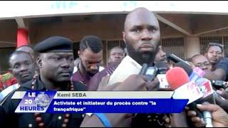 Le 20h de RTB parle de Kemi Seba et du procès de la Françafrique