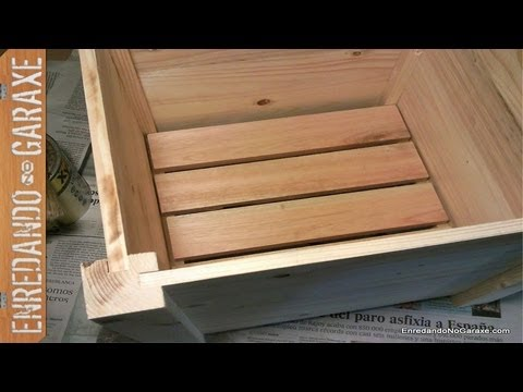 Como hacer un macetero con madera de palet, parte 1. Make a planter box out of palet boards, part 1
