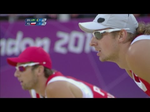 Preview video Beach Volleyball Men´s Quarterfinals - Brazil v Poland Full Replay - London 2012 Olympics