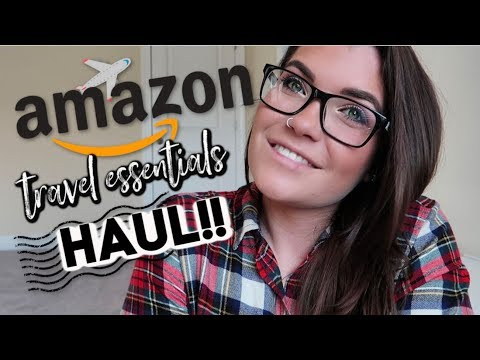 AMAZON TRAVEL ESSENTIALS HAUL    International Travel Things You NEED!