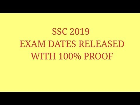 SSC important notification || 2019 exam date released