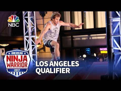 Grant McCartney at the Los Angeles Qualifiers - American Ninja Warrior 2017