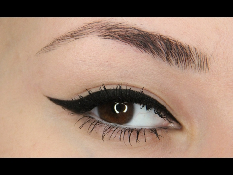 Winged Eyeliner Tutorial – NYX Epic Black Mousse Liner review/demo!