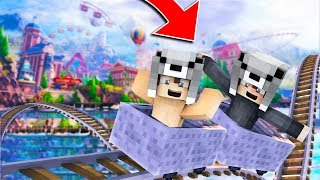 BEBEK İLE TEHLİKELİ LUNAPARKA GİTTİK! 😱 - Minecraft