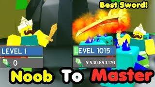 Noob To Master! Level 1000! 9 Billion Gems! Got Best Sword! Slayed Frost Guard! - Slaying Simulator
