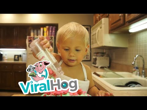 This Two Year Old Teaches Us How to Bake a Cake Like a Pro