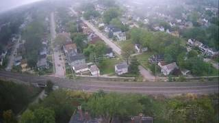 Hubsan H501s X4 High altitude Cloudy Windy flight in Cleveland Ohio !