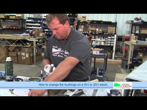 How to Change the Bushing on a Hewitt 1501, 2001 & 2501 Winch