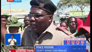 County Administration officers champion peace missions across the country