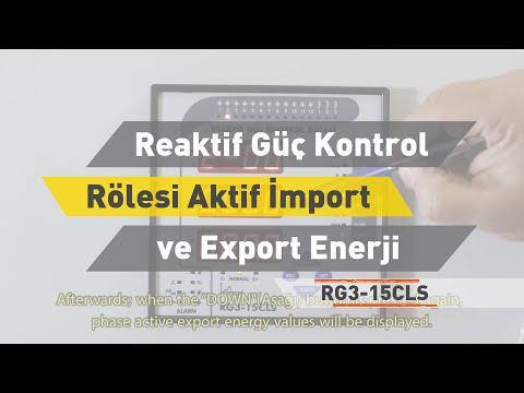 RG3 - 15 CLS Reaktif Güç Kontrol Rölesi- Aktif İmport ve Export Enerji