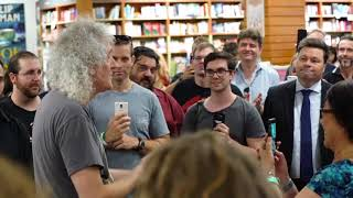 Brian May interview at Kinokuniya bookstore Sydney 22/02/2018 edit