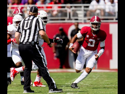 Jalen Hurts after Fresno State game, thoughts on Tua Tagovailoa debut
