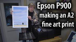 "Making an A2 fine art print on the Epson P900 17"" printer"