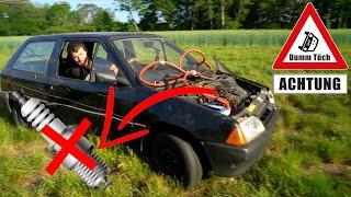 Läuft ein Auto auf 1 Zylinder? Fahren ohne Zündkerze   Dumm Tüch