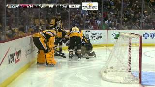 Gotta See It: Ovechkin goes chopping, finds Letang's ankle