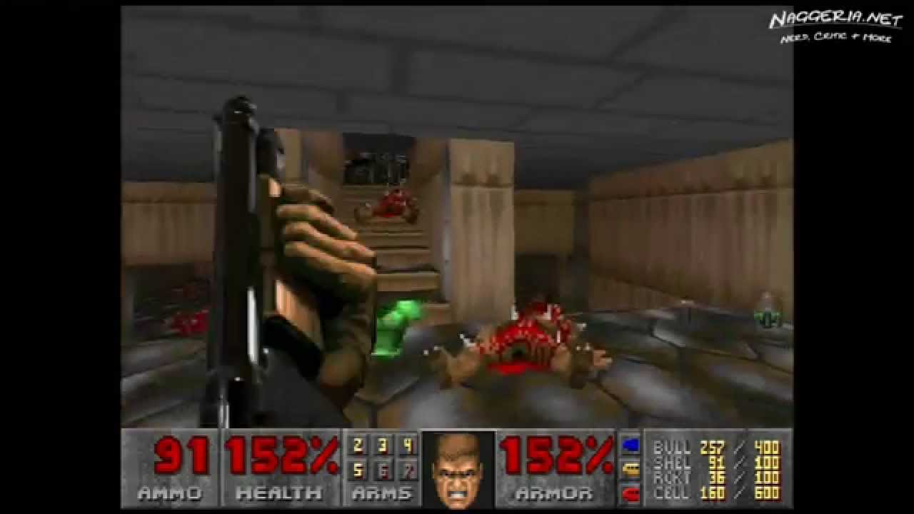 "Doom (E1M6 ""Central Processing"") Walkthrough – Ultra-Violence"