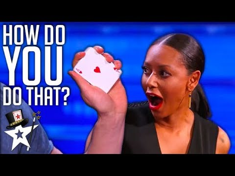 Magician's MOST VIEWED Card Tricks on America's Got Talent | Magician's Got Talent (видео)