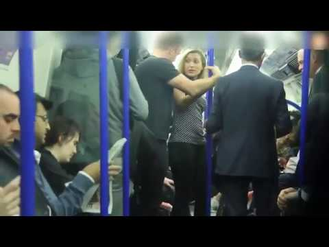 Man gropes woman on Tube in social experiment