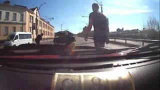 Авария с мотоциклистом 16 мая 2017 года (47 сек)