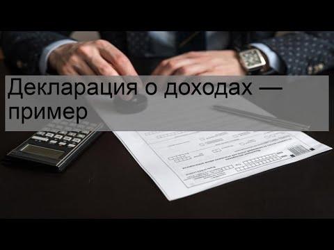 Декларация о доходах — пример