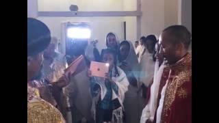 Ethiopian Orthodox Wedding  ስርዓተ ተክሊል የዲ/ን ብሩክ እና የወ/ት ፍቅር October 2, 2016