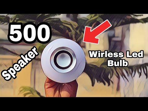 RGB LED BULB WITH BLUETOOTH SPEAKER UNBOXING & REVIEW