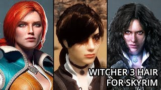 Witcher 3 Hair for Skyrim - Skyrim Mod - SC - The Witcher 3 Hairdos