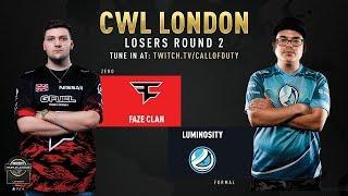 FaZe Clan Vs Luminosity Gaming   CWL London 2019   Day 2