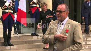 FRANCE: TRAIN HEROES HONORED-CHRIS NORMAN (DEPARTURE, REMARKS)
