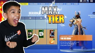 Surprising Little Brother With Fortnite Season 7 *MAX* Battle Pass! He Freaked Out!