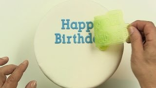 Happy Birthday On a Cake, Easy Perfect Cake Decorating with Flexabets®