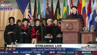 "FNN: Hillary Clinton on How She Handled Election Loss (""Chardonnay Helped"") @ Wellesley Commencement"