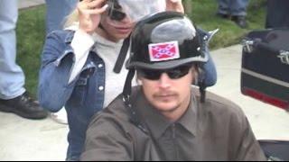 KID ROCK wears Confederate-flag helmet on ride with PAMELA ANDERSON