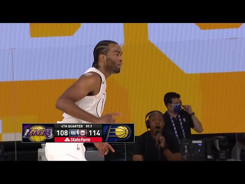 TJ Warren DAGGER THREE! Lakers vs Pacers | August 8, 2020