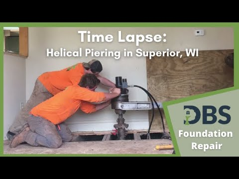 Helical Piering Supports Sinking Foundation in Superior, WI